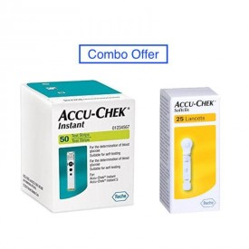 Accu Chek Instant Strips and lancet Combo