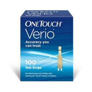 One Touch Verio Flex Glucometer 100 Strips Pack