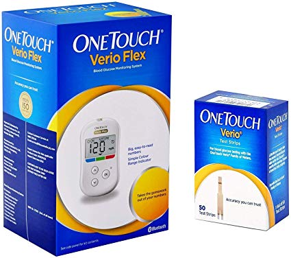 One-Touch Verio Flex Glucometer and strip combo