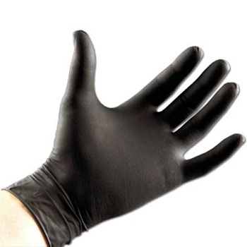 black nitrile gloves online