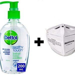 Dettol Hand Sanitizer & Mask