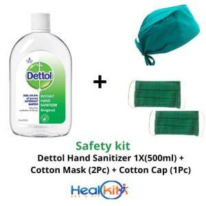 Dettol hand sanitizer and Cotton Mask & Caps