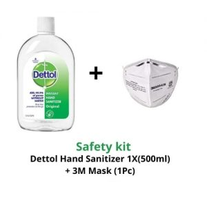 Dettol hand sanitizer and mask