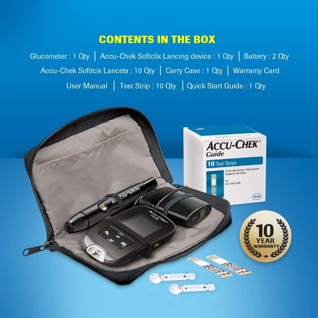 accu chek guide content in a box