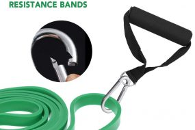 Resistance Band Handle with Carabiner