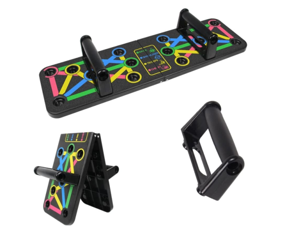 Push Up Bars, Multi-Function 14 in 1 System Push Up Board, Foldable Comprehensive Easy to Use Push up Handle, Strength Training Push Up Stands