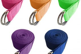 Yoga Exercise Adjustable Straps with Durable D-Ring